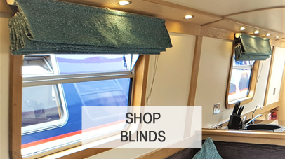narrowboat furniture, upholstery, inventory & roman blinds