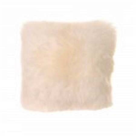 ivory sheepskin cushion