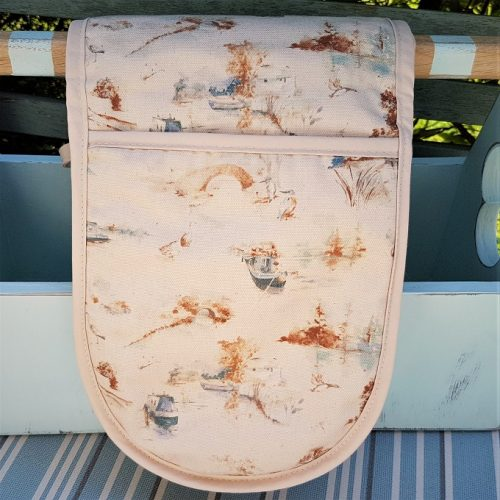 Autumn Canal Scene Oven Gloves