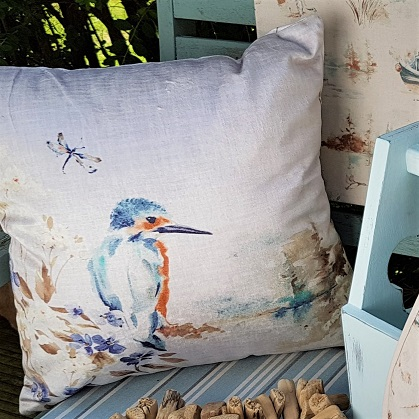 Kingfisher Cushion Autumn