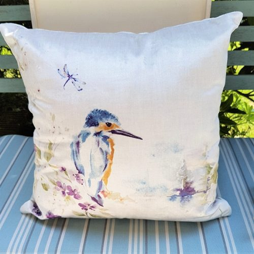 Kingfisher Cushion - Spring