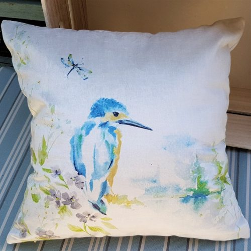 Kingfisher Cushion Summer