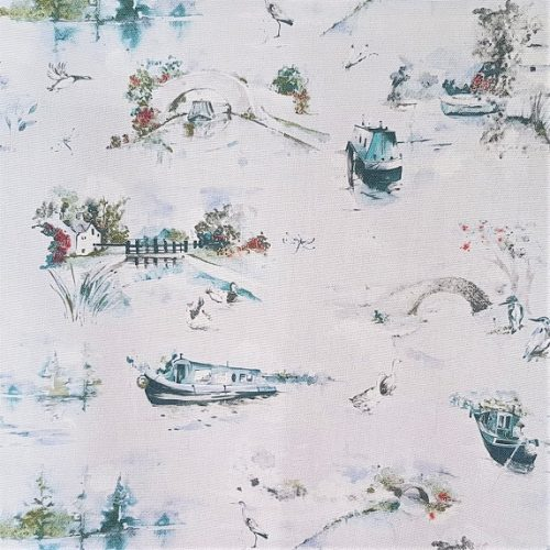 Winter Canal Scene Fabric