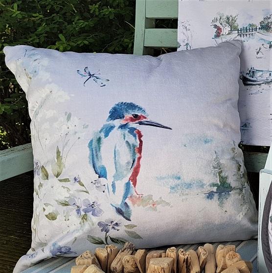 Kingfisher Cushion Winter