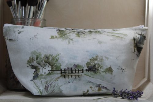 Spring Canal Scene Make-Up Bag