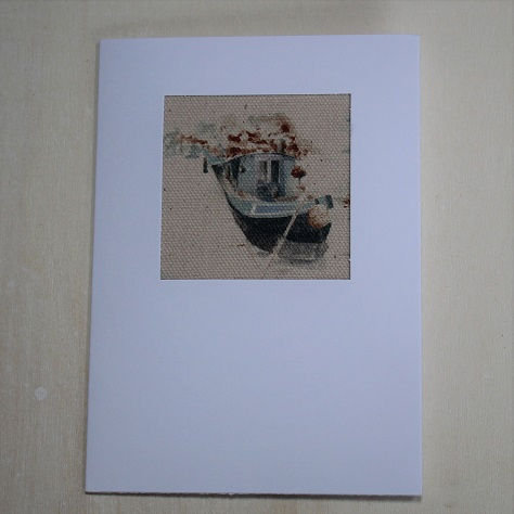 narrowboat greeting card