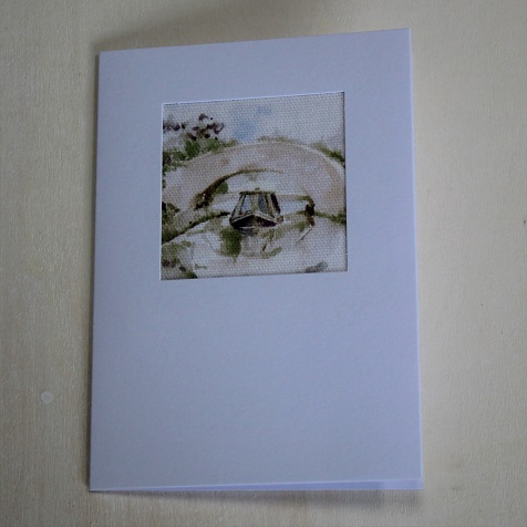 Spring Canal Scene Card