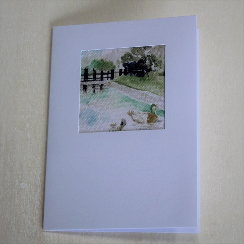 canal scene greeting card