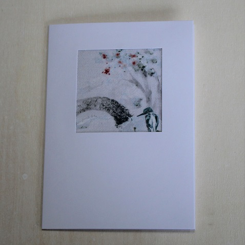 bridge and kingfisher card