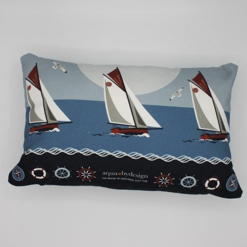 Nautical Blue Boats Cushion