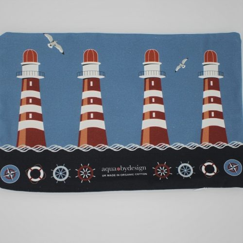 Nautical Blue Lighthouse Cushion 2