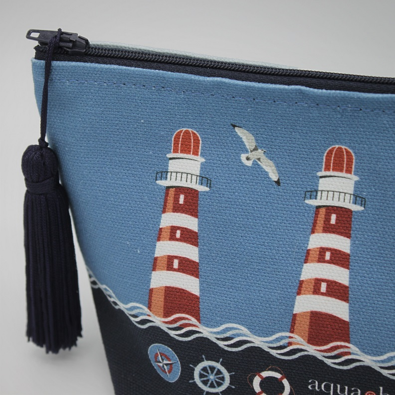 Nautical Blue Make-up Bag