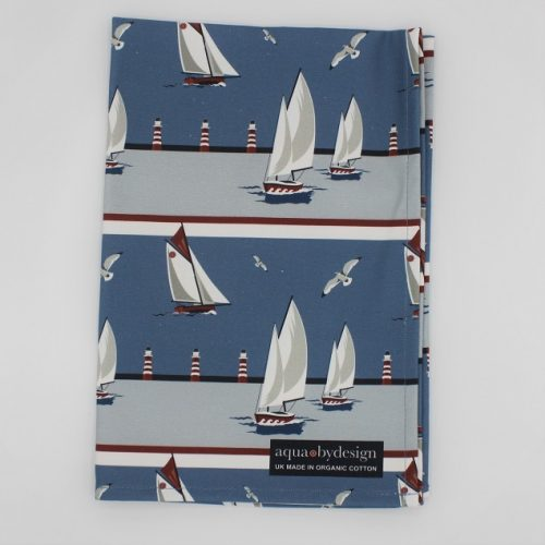 Nautical Blue Tea Towel