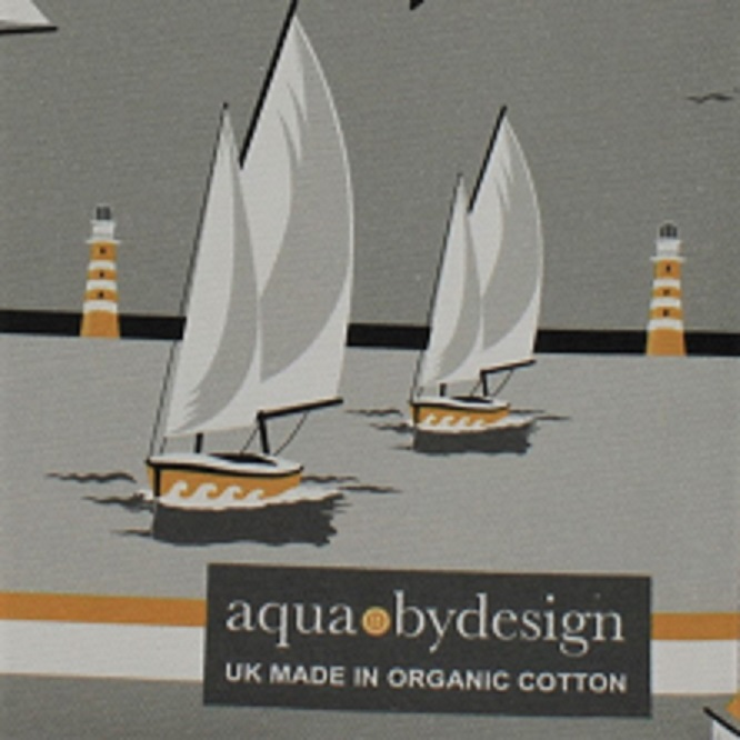 nautical grey tea towel