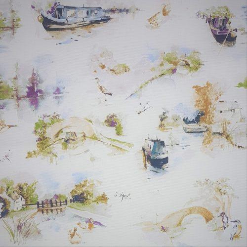 spring canal scene