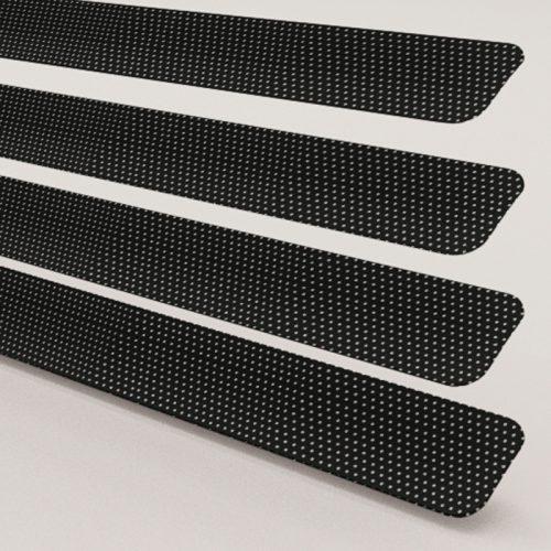 Black Perforated Aluminium Venetian Blind