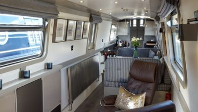Narrowboat furniture, boat upholstery, boat & yacht blinds & curtains